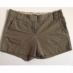 JCrew Striped Shorts City Fit Sz 6